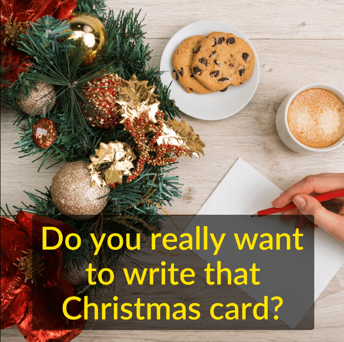 How does writing a Christmas card support your values? What do Christmas cards mean to you? www.kristinachallands.com.au