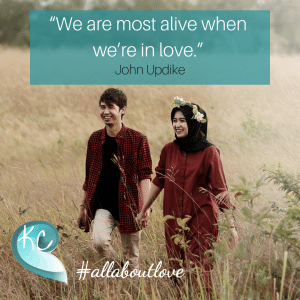 """""""We Are Most Alive When We're In Love """" John Updike"""